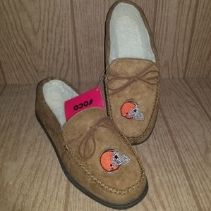 Cleveland Browns Moccasin Slippers Mens M